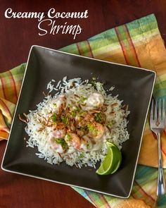 Creamy Coconut Shrimp...quick and easy and ready in about 15 minutes!  #15MinuteSuppers