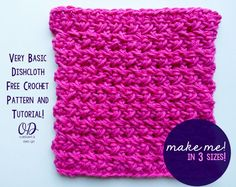 FREE PATTERN AND TUTORIAL VERY BASIC DISHCLOTH BY OOMBAWKADESIGNCROCHET.COM