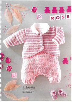"""Photo from album """"Especial Bebes on Yandex. Baby Knitting Patterns, Knitting For Kids, Cardigan Bebe, Baby Cardigan, Knitting Magazine, Crochet Magazine, Stuffed Toys Patterns, Baby Wearing, Kids And Parenting"""