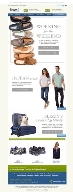 Zappos | newsletter | fashion email | fashion design | email | email marketing | email inspiration | e-mail