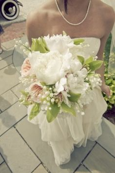 Peony and Orchid wedding Bouquet by Zofia & Co. Photography