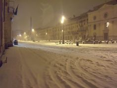 Navona Square, Snow in Rome, Italy, My Home. Photo by Pietro Bergamaschini on Panoramio