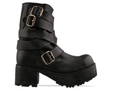 66fed087ed93 Solestruck X Jeffrey Campbell Ojai LTD Black Platform Boots