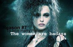 Duh! I love Bellatrix, but Molly Weasley = prime example.