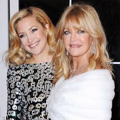 Kate Hudson and Goldie Hawn, actresses