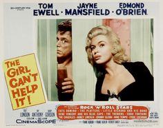 The Girl Can't Help It - Lobby card with Tom Ewell & Jayne Mansfield