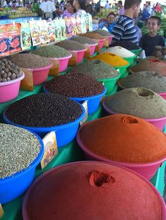 Spice Stand at Krytyy Market - Bukhara, Uzbekistan Bukhara's Krytyy Market Read more about  our visit to Uzbekistan and tourism in Uzbekistan.