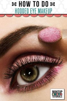 Makeup tutorial for hooded eyes, tips & how to's | http://makeuptutorials.com/makeup-tutorials-how-to-hooded-eye-makeup/