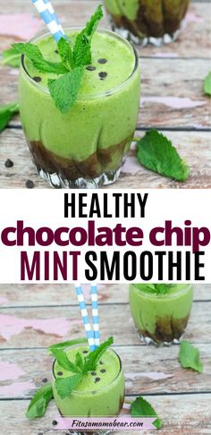 Creamy and indulgent but healthy! This mint chocolate chip smoothie uses the real herb paired with healthy fats and bananas to bring its satisfying flavor. Plus, top it with 2-ingredient chocolate sauce and this paleo smoothie becomes perfection. Give your day a boost with this healthy shamrock shake! #smoothie #smoothierecipe #smoothierecipeshealthy #mintchocolatechip #stpatricksday #saintpatricksday Mint Smoothie, Smoothie Drinks, Smoothie Recipes, Nutritious Meals, Healthy Fats, Healthy Drinks, Healthy Chocolate Smoothie, Vegan Smoothies, Dairy Free Recipes