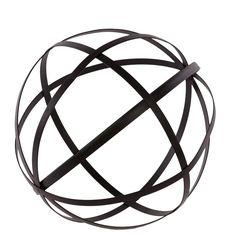 Metal Orb Dyson Sphere Design Decor