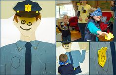 Pin the badge on the cop! - and eyes and mouth - one for each child makes a mixed up cop