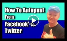Autoposting: - Facebook to Twitter: If you've ever wanted to know how to autopost directly from Facebook to Twitter, this video will show you how... it's super, simple..     //    A nice helpful Video..  Posted by Affiliate Power onSunday, 4 October 2015