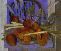 """""""Flores sobre la silla"""" Óleo sobre lienzo, 46 x 55 cm."""