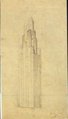 Hugh Ferriss, The Metropolis of Tomorrow, 1928