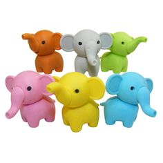 Elephant Eraser , $1.00 each. Find this and more Gift Guides at SmallforBig.com #kids #stockingstuffers #gifts