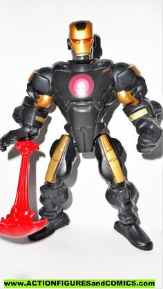 I Marvel Super heroes BLACK /& SILVER Iron-Man W//t Wing Armor figure USA