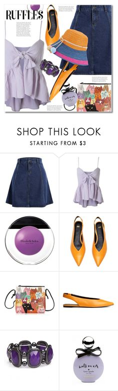 """""""Add Some Flair: Ruffled Tops"""" by svijetlana ❤ liked on Polyvore featuring Elizabeth Arden, H&M, Kate Spade, Sophie Anderson, rosegal and ruffledtops"""