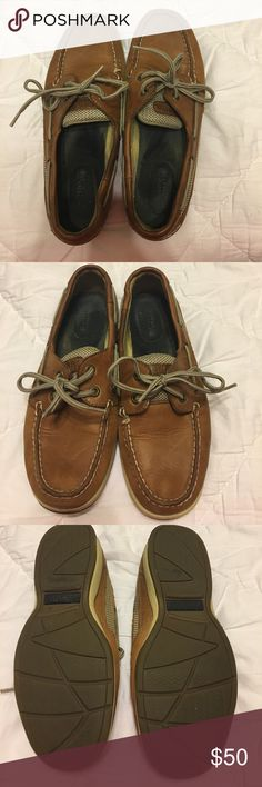 Women's Sperry Top Siders Women's Sperry Top Siders. Boat shoe. Dark tan/brown leather. Size 7.5. Great Condition. Sperry Top-Sider Shoes