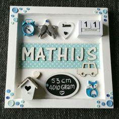 Geboortebord Mathijs ● Troetel.com