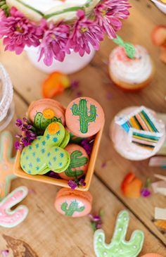 Vibrant Coral & Green Fiesta Birthday Party