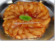 Szeretem a fordított gyümölcsös tortákat, akár kevert tésztával, akár mint most ez a körtés változat, leveles tésztával készül. Nagyon fi... Grapefruit, Apple Pie, Ethnic Recipes, Desserts, Food, Drink, Tarte Tatin, Tailgate Desserts, Deserts