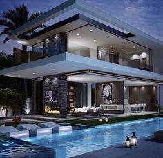 Modern exterior.