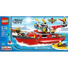 Lego City Truck, Lego City Police, Lego City Fire, Lego Fire, Legos, Lego Boat, Lego City Sets, Lego Ship, All Lego