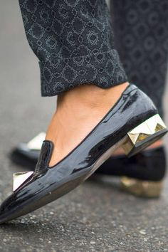 Valentino's big studs out and about in Milan #streetstyle