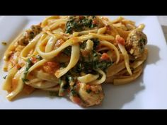 (13) Geekchef 6qt Spinach & Chicken Fettuccine with Roasted Red Pepper Sauce Pressure Cooker - YouTube