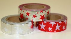 Masking tape stars shiny! Stationery www.pippikokel.nl