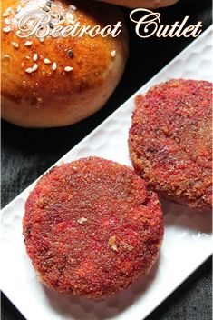 Beetroot Tofu Cutlets or Beetroot Tofu Burgers..You can have it as you like..How are you going to enjoy it, cutlet or burger?  Recipe :http://www.yummytummyaarthi.com/2014/11/beetroot-tofu-cutlet-recipe-beetroot.html