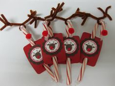 Candy Cane Reindeers by LorriHeiling - Cards and Paper Crafts at Splitcoaststampers