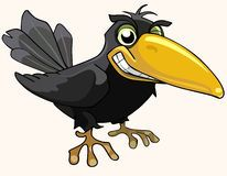 Cartoon angry bird crow smiling Stock Photography