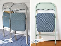 Creative Soul Spectrum: DIY Folding Chair & Bench Reupholster Makeover