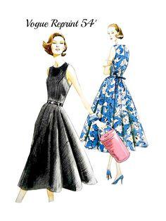 Sleeveless Pullover Wrap Dress Pattern Vogue by VintageNeedleFinds