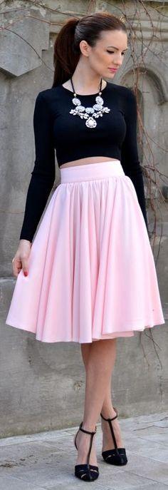 Fairytale Collection Pink Midi Full Pleated Skirt by My Silk Fairytale