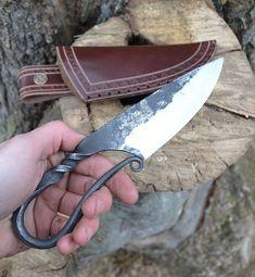VÖLUNDR forgé viking couteau et fourreau de par WulflundJewelry