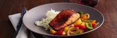 Seared Chile Salmon with Pineapple and Peppers(Fresh Flavors June '15) Recipe | Gourmet Recipes | The Fresh Market