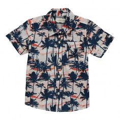 Wout palm trees blouse Midnight blue  Simple Kids