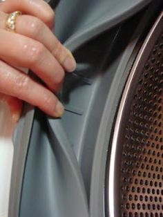 Once a month, add a cup of Distilled White Vinegar and a cup of Baking Soda during the HOT cleaning cycle, pour them directly into the drum. Then, add about ½ cup of vinegar and ½ cup of baking soda into the detergent dispenser.