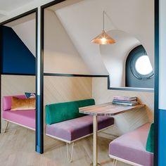 "(@designwanted) : ""Coworking in a 1920s Art Deco building ✏️Wework La Fayette by Axel Schoenert Architectes #Paris,…"""