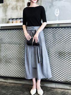 Office Fashion, Work Fashion, Skirt Fashion, Fashion Art, Spring Fashion, Womens Fashion, Classic Outfits, Cute Outfits, Dress Skirt
