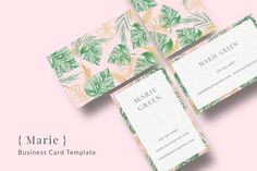 Marie Business Card Template