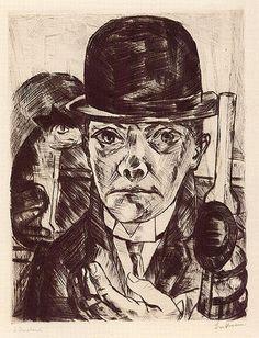 Autorretrato con sombrero / Max Beckmann. 1921 http://173.203.108.197/noticias/actualidad/20110401659/tinta-taco-y-papel