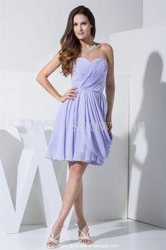 Sleeveless  Inverted Triangle Short Bridesmaid Dress Wholesale Price: US$ 109.99