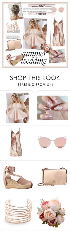 """""""Summer weddings 👰"""" by chloe2277 ❤ liked on Polyvore featuring Post-It, Fleur du Mal, Stephane + Christian, Tory Burch and Alexis Bittar"""