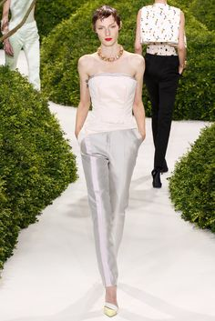Christian Dior Spring 2013 Couture Collection Slideshow on Style.com  Cigarette pants