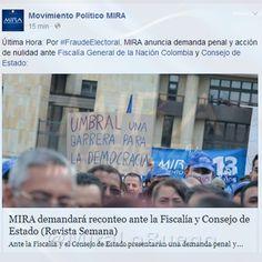 #Mira anuncia demanda penal y acción de nulidad ante Fiscalía General de la Nación #FraudeElectoral