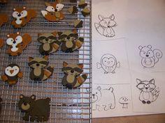 Plumeria Cake Studio: Woodland Animal Baby Shower Cupcakes