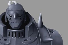 Anime picture with fullmetal alchemist alphonse elric kuroda shiki single simple background grey male armor helmet thorns Alphonse Elric, Edward Elric, Fullmetal Alchemist Brotherhood, Human Soul, Simple Backgrounds, Amazing Cosplay, It Goes On, Awesome Anime, Anime Shows